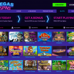 Vegas Spins -100% Bonus up to £250 + 30 Free Spins