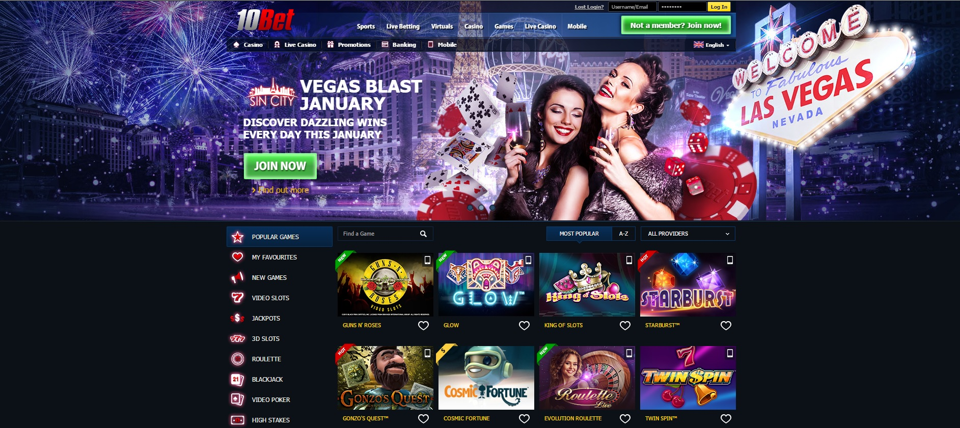 welcome casino bonus 10bet