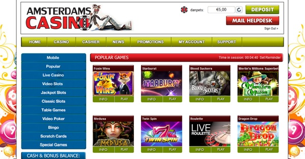 Reload bonus Amsterdams casino