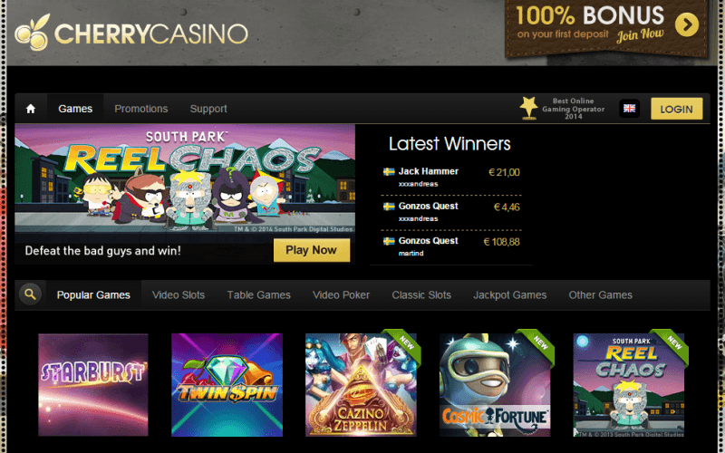 no deposit free spins cherry casino