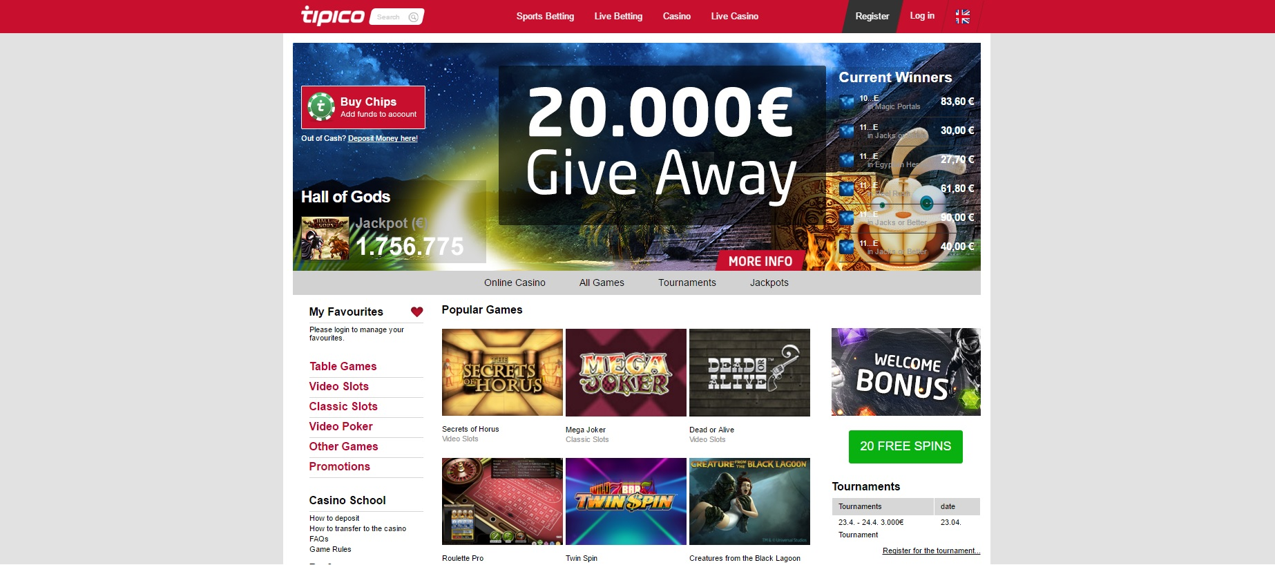tipico casino offer
