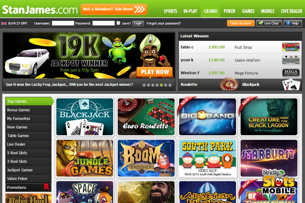 Stan james casino free spins