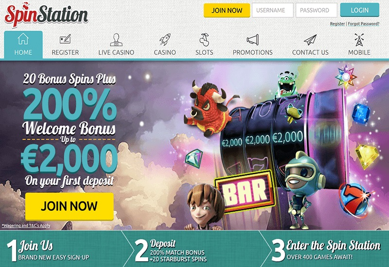 welcome casino bonus Spinstation