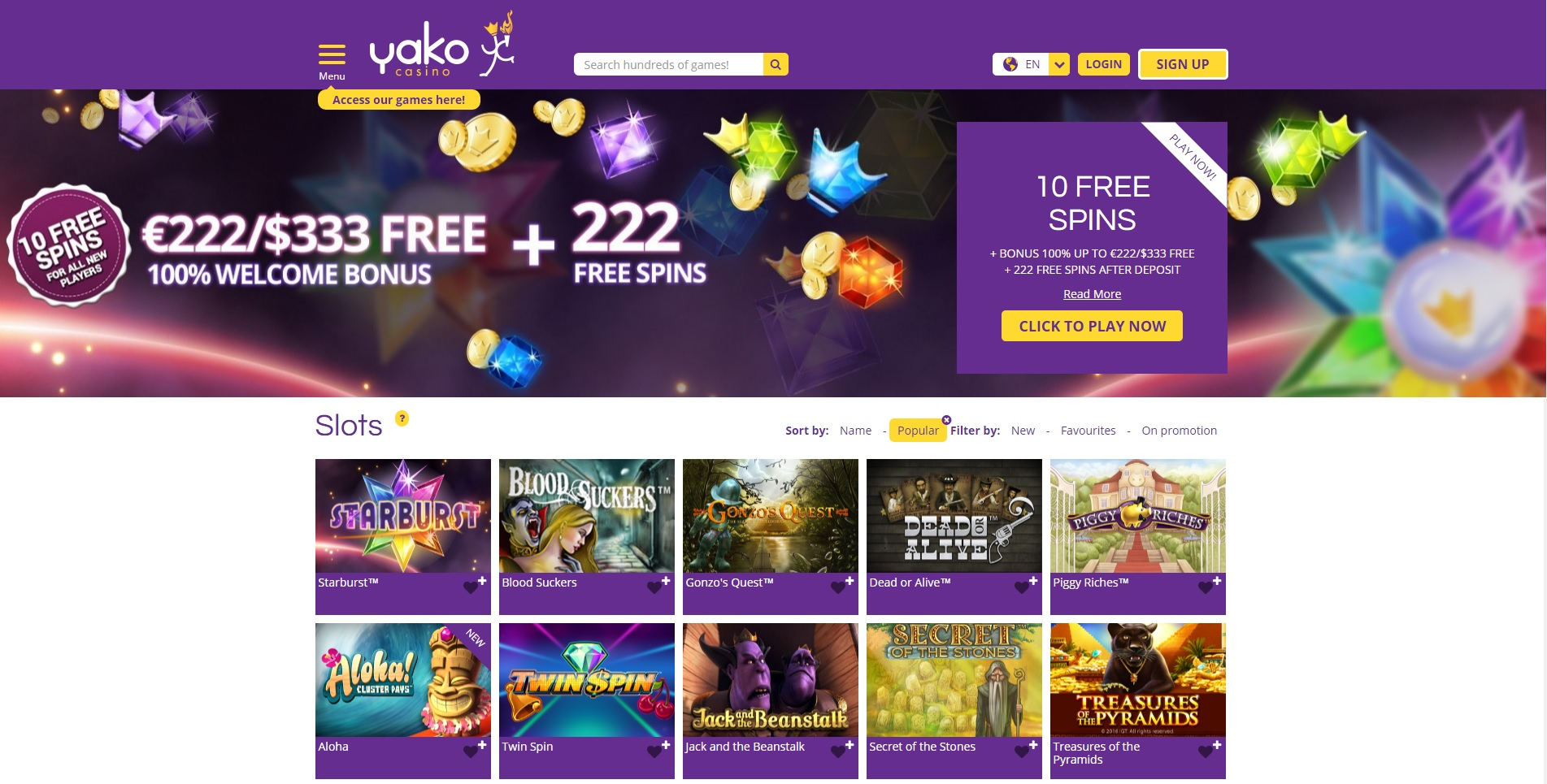 no deposit free spins yako casino