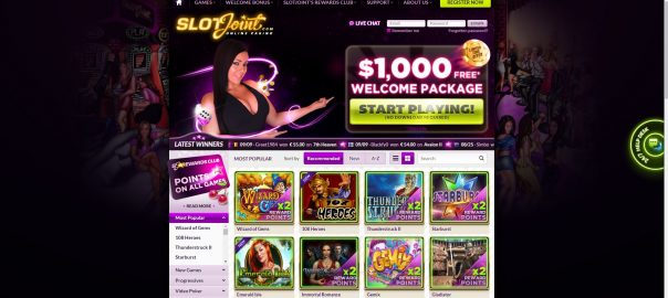 Slotjoint welcome casino bonus