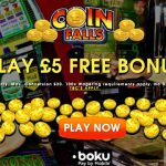 $£€5 NO DEPOSIT BONUS AT COINFALLS CASINO