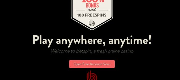 welcome casino bonus Betspin