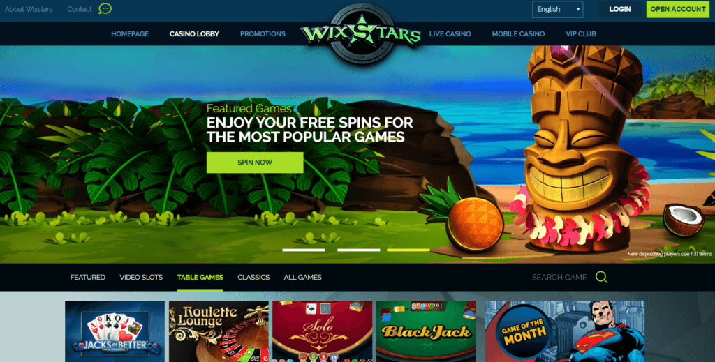 WixStars welcome bonus