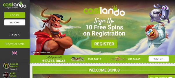 welcome casino bonus Casilando