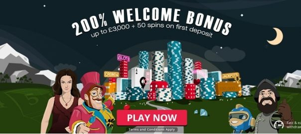 welcome casino bonus Spinland