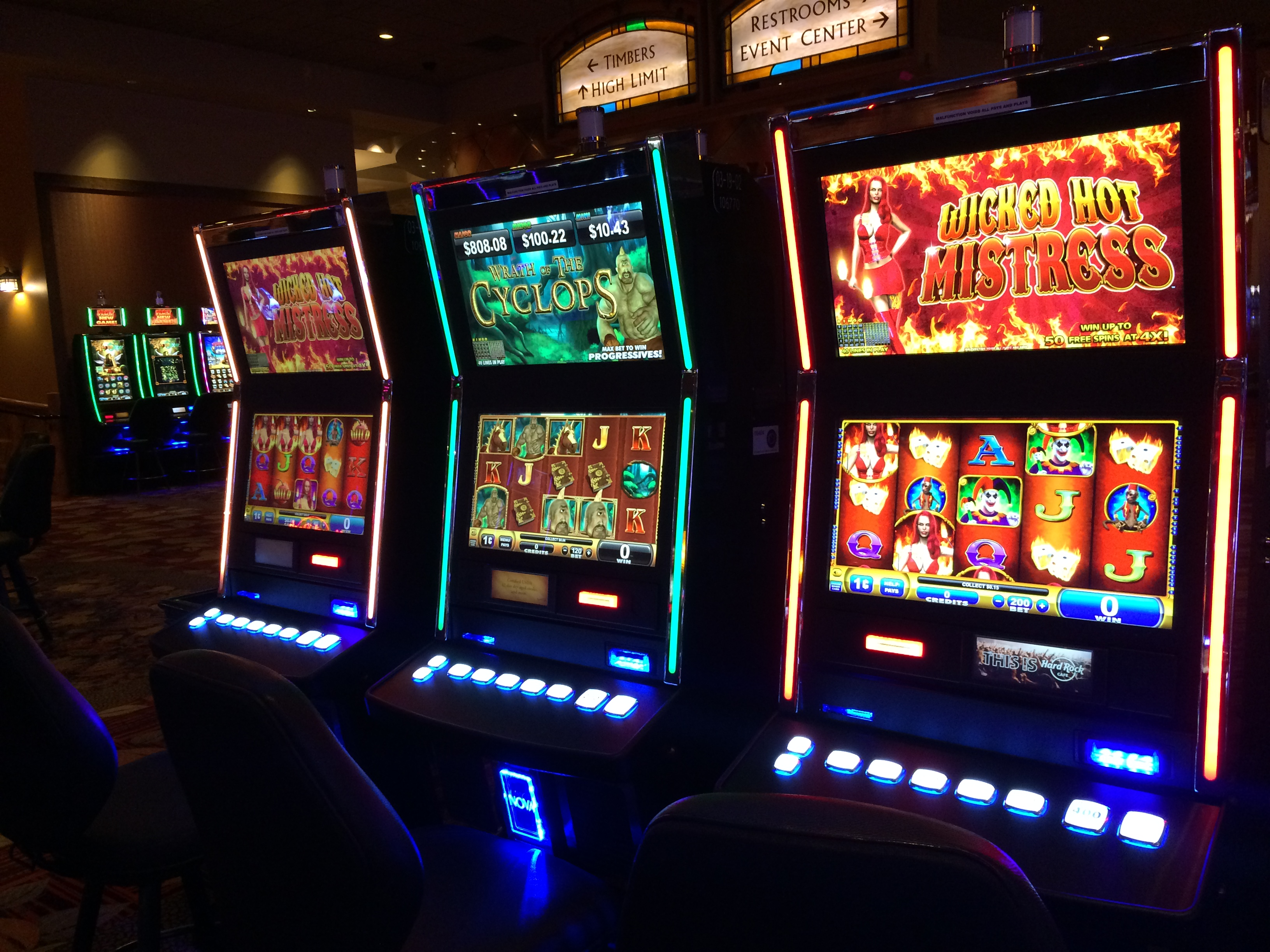 Real slot machine gambling