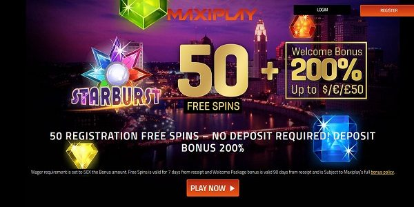 Maxiplay casino welcome bonus