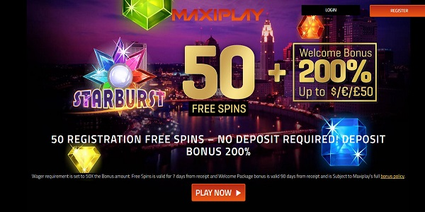 welcome casino bonus Maxiplay