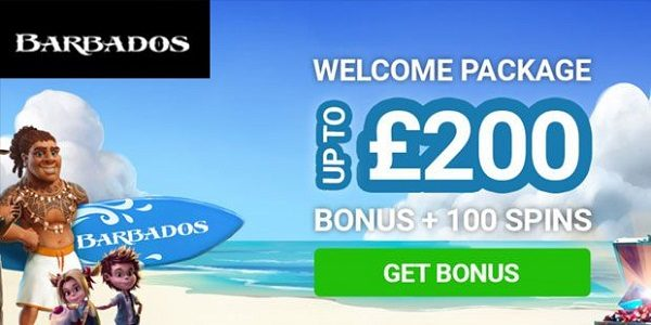 100 free spins bonus Barbados casino