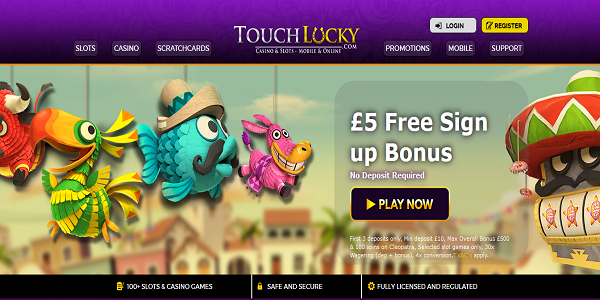 sign up bonus touch lucky casino