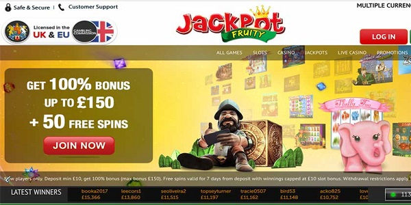 welcome bonus jackpot fruity