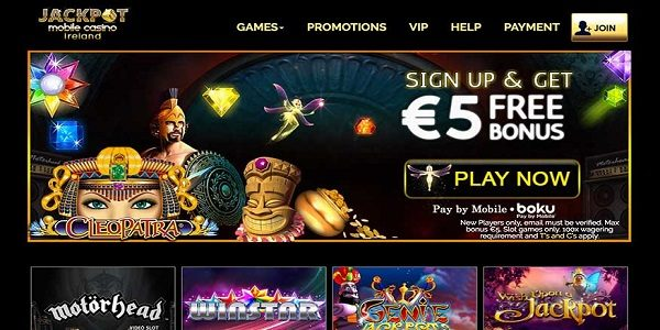 sign up bonus jackpot mobile casino