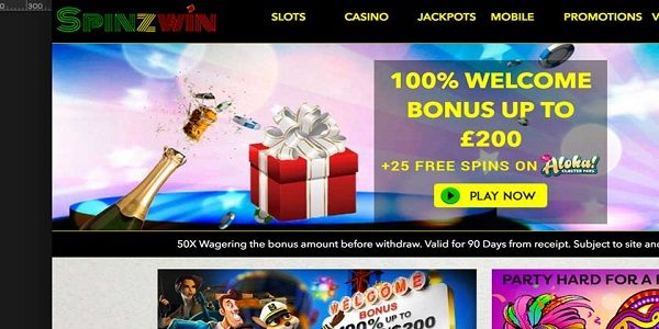 casino welcome bonus spinzwin