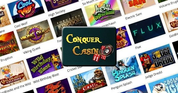 conquer casino,welcome bonus,free spins